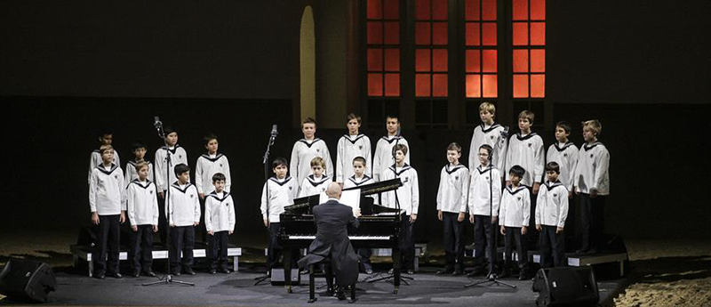 The Vienna Boys Choir performing