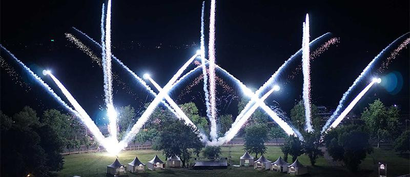 Belgrade manifest fireworks