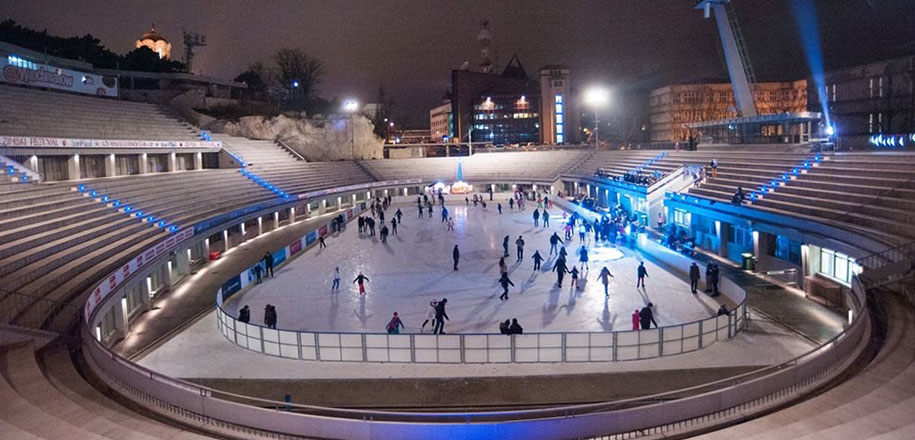 Klizanje u Beogradu: Tašmajdan